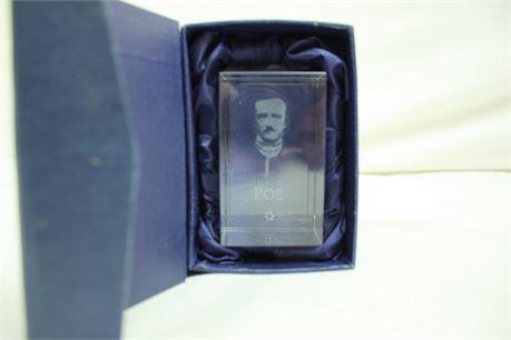 Laser Etching of Edgar Allan Poe