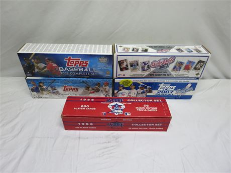 Lot Of 5 Boxes Of Assorted Baseball Cards