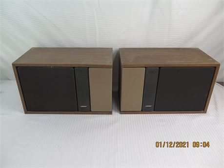 Vintage Pair of Bose 301 Series 2 Direct/Reflecting Speakers (670)