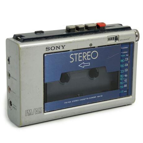 Vintage Sony WA-33 Stereo Walkman Cassette Player  Parts/Repair 