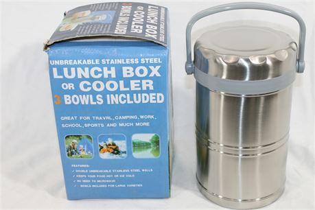 Artek Stainless Steel Travel Lunch Box/Cooler, Lot of 2