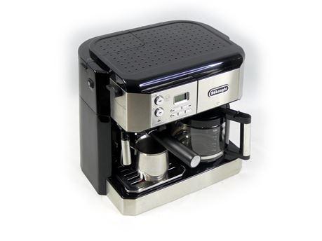 DeLonghi BCO430 Combination Pump Espresso/Coffee Machine 10-Cup Drip Frothing
