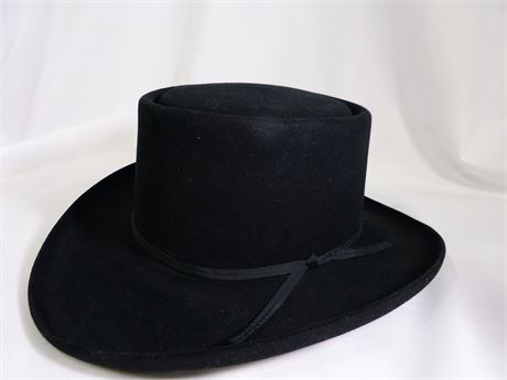 Resistol Self-Conforming 4 X Beaver Black hat Size 7 1/8