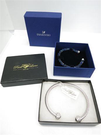 Jewels by Park Lane Cuff Bracelet & Swarovski Gemstone Bracelet