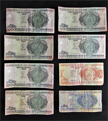 Vanuatu Vatu Currency