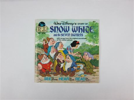 Vintage Disney's Snow White Read-Along Book and Record (650)