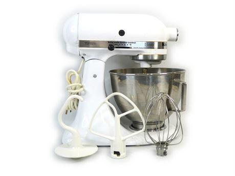 KitchenAid K5SS Classic Heavy Duty Stand Mixer White 5QT w/Bowl + Attachments