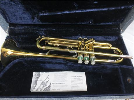 Silvertone Trumpet Made in Elkhart, IND.