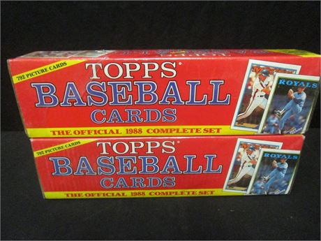 Lot of 2 Topps 1988 Baseball Cards Complete Set - Sealed