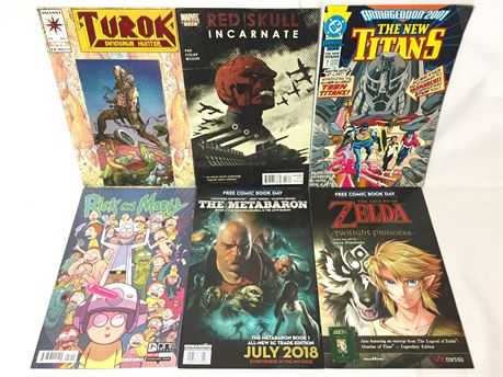 Lot of 6 Action Comic Books From Marvel, DC Comics, And More