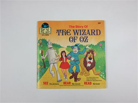 Vintage Disney's The Wizard of Oz Read-Along Book and Record (650)