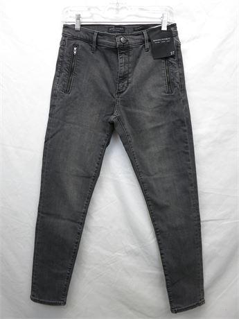 Banana Republic Mid Rise Skinny Ankle Premium Denim Jeans