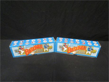 Lot of 2 Donruss 1989 Baseball Puzzle & Cards Complete Set - Sealed