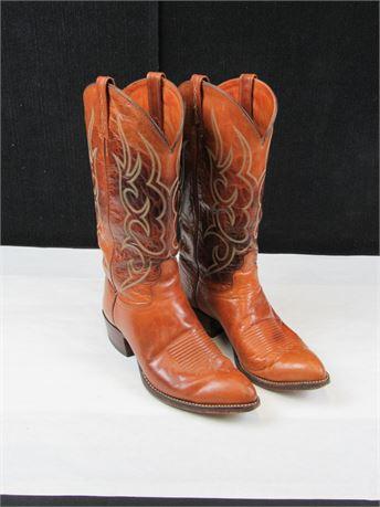 J. Chisholm Brown Cowboy Boots - Size 9D (650)