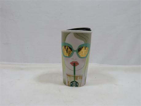 12oz Starbucks Los Angeles Mug With Lid
