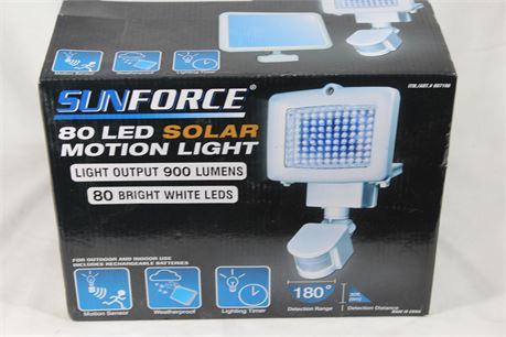 Sunforce 80 LED Solar Motion Detection Light