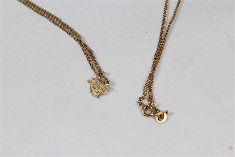 14k Yellow Gold Women's Necklace 4.12 Grams