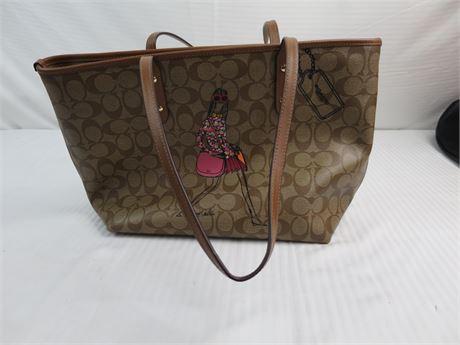 COACH Bonnie Cashin Brown Monogram purse-#J1621-F57617-Like New (670)