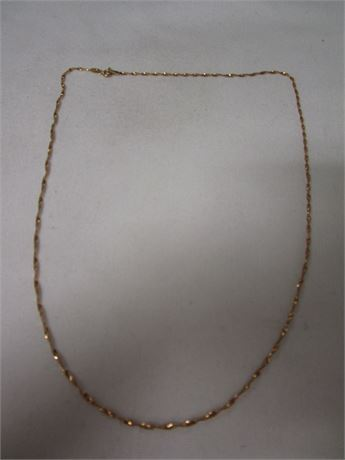 14 Karat Yellow Gold Spiral Chain 2.86 Grams - Tested w/ JSP