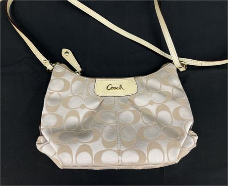 Coach Cream Color Cross-Body Bag