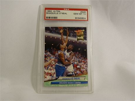 1992 Ultra Basketball Shaquille O'Neal ROOKIE RC #328 PSA 10 GEM MINT