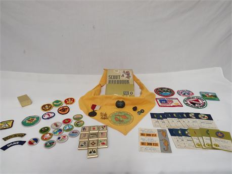 Vintage Lot of Boy Scouts Patches, Badges, and More