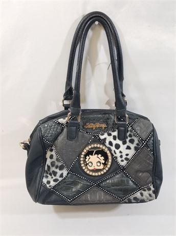 Betty Boop Black Purse Bag. 13 X 10 X 6