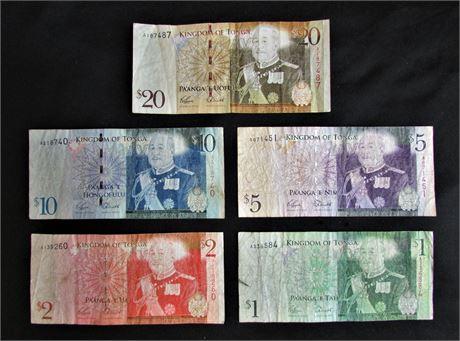Kingdom of Tonga Banknotes