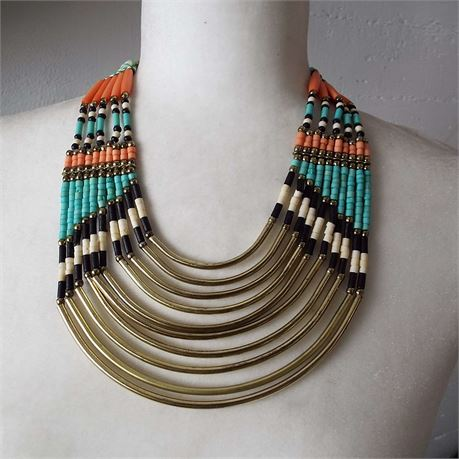Fashion Beaded Statement Necklace Unbranded