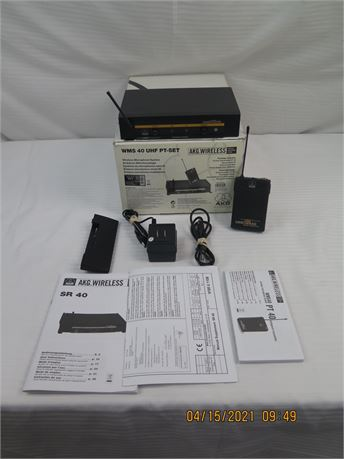 AKG UHF SR40 & PT40 Wireless Bodypack & Receiver (670)