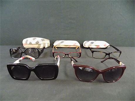 Burberry Sunglasses + Frames Lot; 5 Pieces