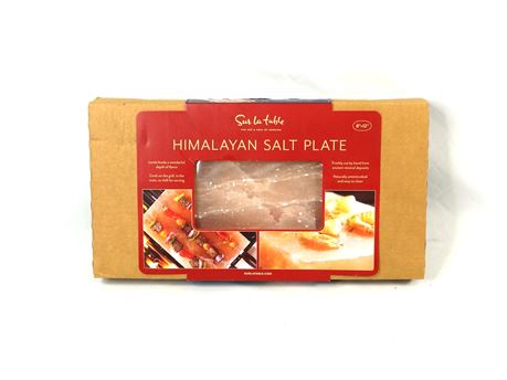 "Sur La Table 8""x12"" Himalayan Salt Plate Block for Cooking Grilling 