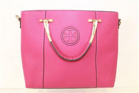 Tory Burch Fucshia Top Handle Shoulder Handbag