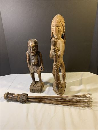 Wood Carved Decorative African Statues
