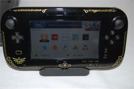 WII U Console with ZELDA Edition Remote
