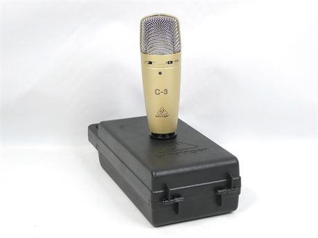 Behringer C-3 Large Dual-Diaphragm Condenser Microphone Recording Professional