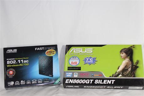 Asus EN8600GT Silent + Asus Wireless AC750 Router, NIP