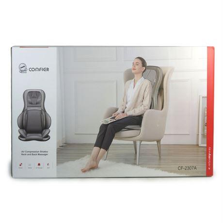 Comfier CF-2307A Neck & Back Massager Heat Shiatsu Massage Chair  Open Box 