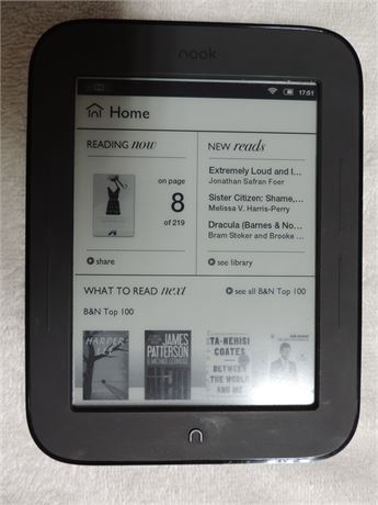 Nook By Barnes & Noble The Simple Touch Reader