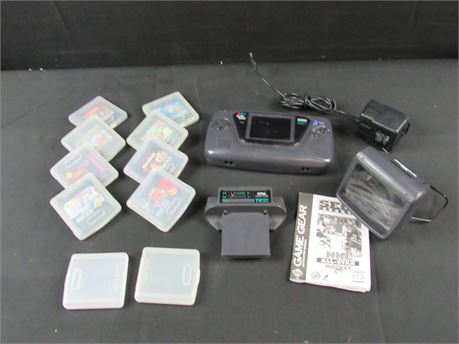 Sega Game Gear Portable Console Bundle Including Games, Chords & Extras (650)