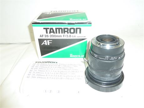 Tamaron AF 28-200mm Lens, NIB