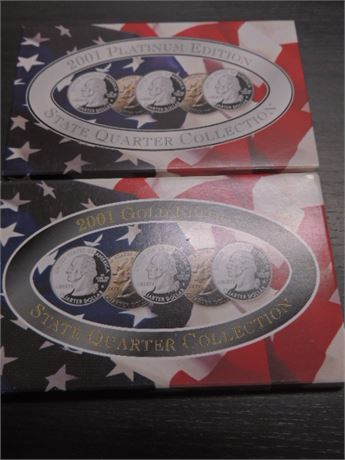 2001 Gold Edition & 2001 Platinum Edition State Quarter Collection