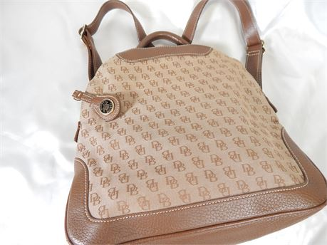 Dooney and Bourke Brown Signature Backpack (270R3B)