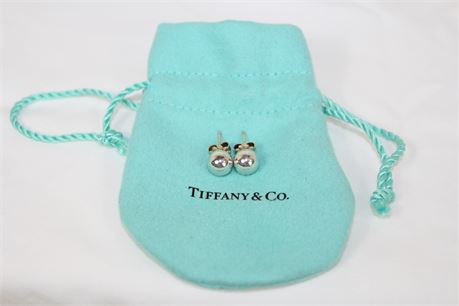 Tiffany & Co 925 Silver 7 mm Ball Stud Earrings 2.2 g