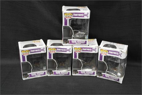 Lot of 5 Pop Fortnite Dark Voyager Figures