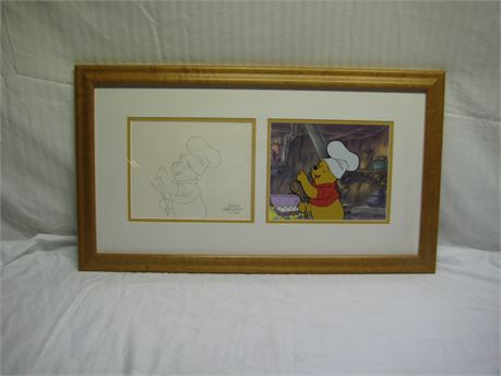 Walt Disney Television The New Adventures Of Winnie The Pooh Framed Drawing