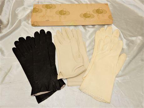 Lot of 3 Vintage Women Gloves