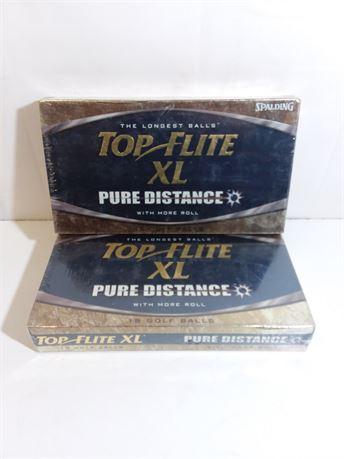 Spalding Top Flite XL Golf Balls Two Bundle