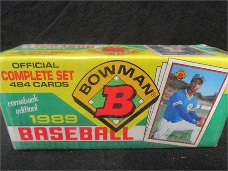 Bowman 1989 Baseball Cards Complete Set 484 Cards - Sealed