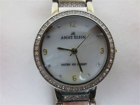 Beautiful Anne Klein Mother of Pearl Water 100 Resistant Watch